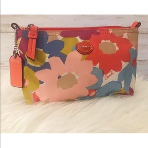 Coach multicolor floral cosmetic pouch